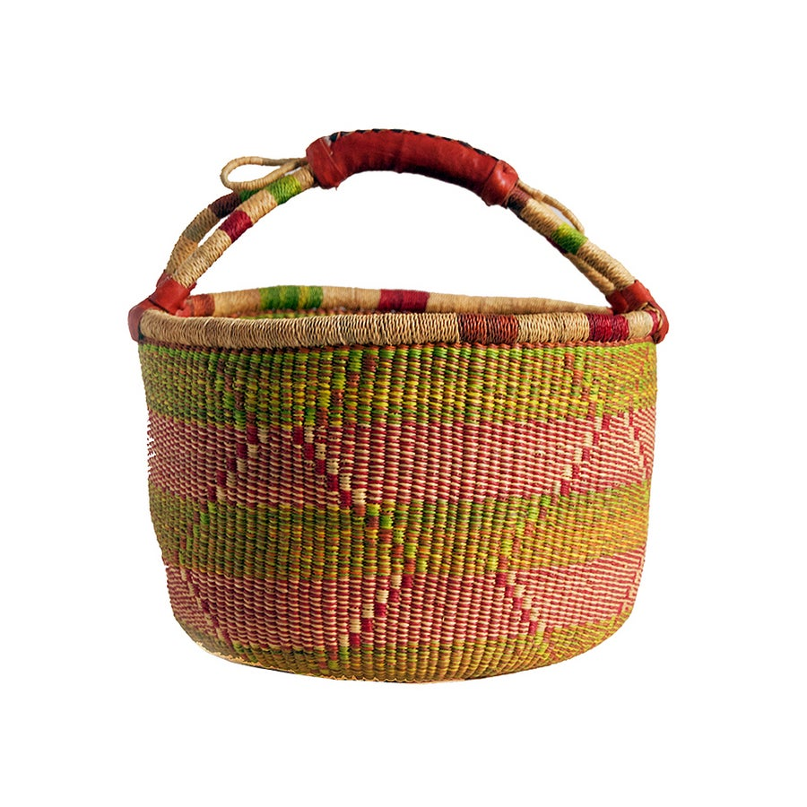Image of Round Bolga Basket NO. 05