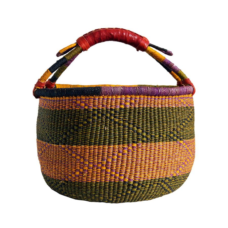 Image of Round Bolga Basket NO. 01
