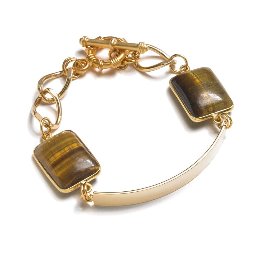 Image of TIGER EYE BAR BRACELET