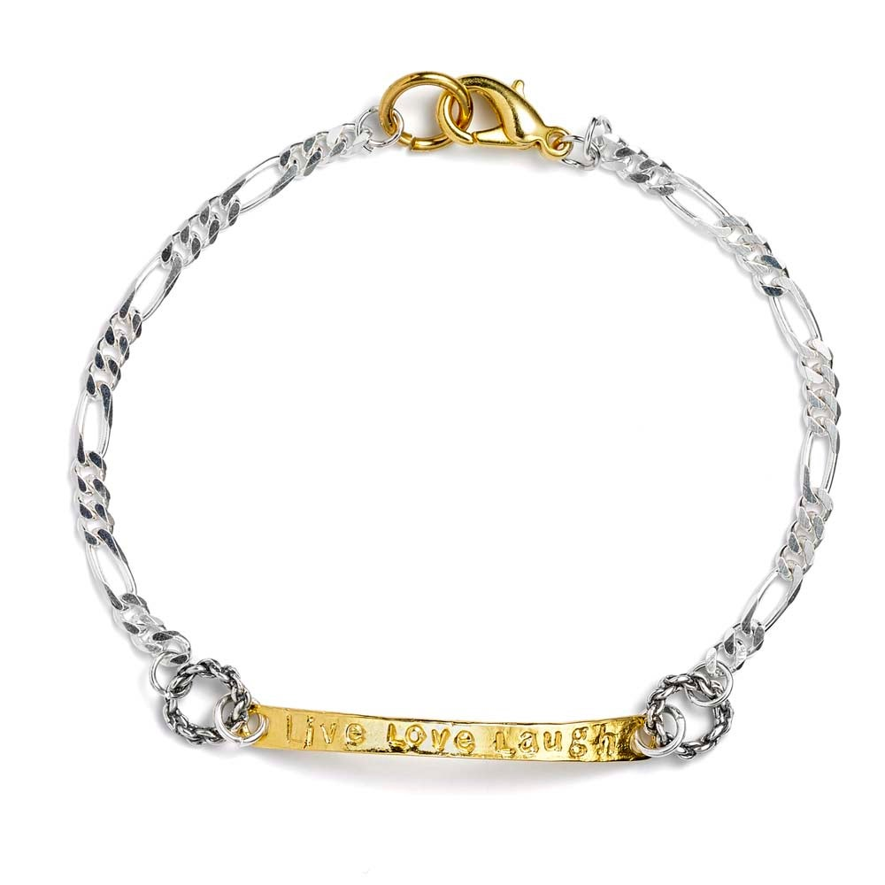 Image of LIVE-LOVE-LAUGH CHARM BRACELET