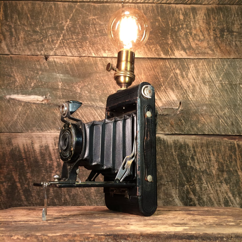 Image of Vintage Folding Camera Lamp