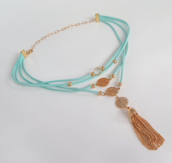 Image of Felice Turquoise layered chocker
