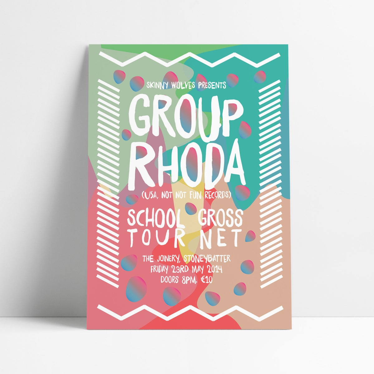 Image of GROUP RHODA / School Tour / Gross Net - Live in The Joinery, Dublin