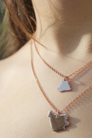 Image of Rose Gold Vermeil Fragment Necklace