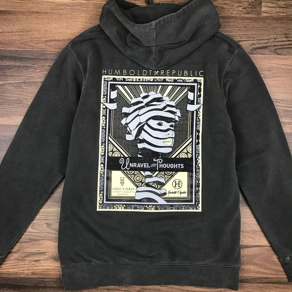 "Image of ""Unraveled"" Unisex Mineral Wash Hoodie"