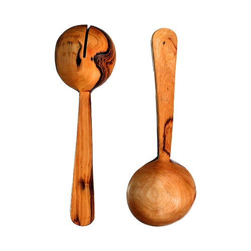 Image of Olive Wood Pendulum Servers