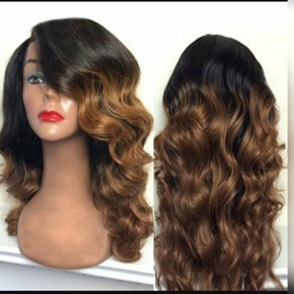 Image of Ombre frontal unit body wave