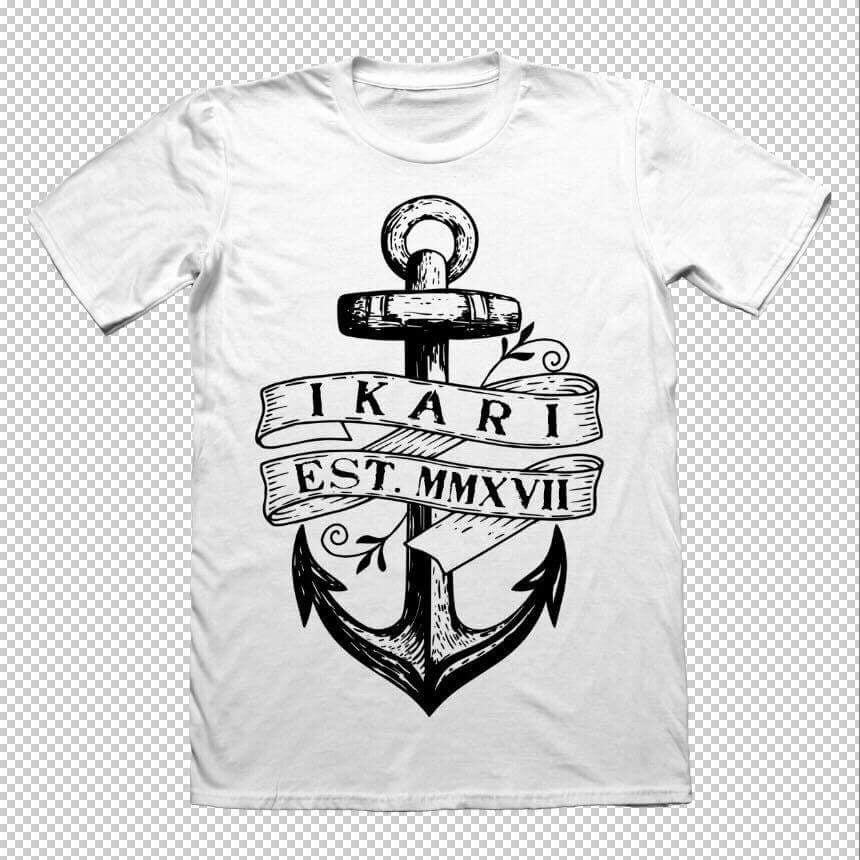 Image of IKARI - ANCHOR 17' White Tshirt
