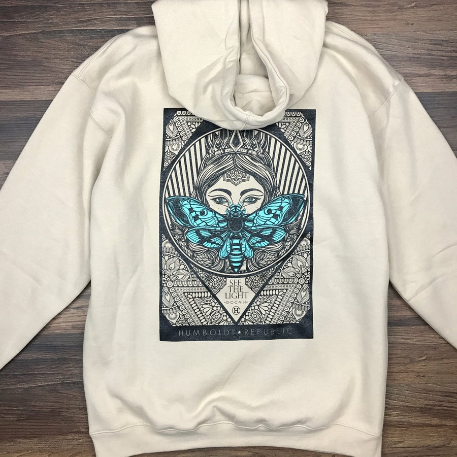 "Image of ""Like Moths to Flames"" Men's Pullover Hoodie"
