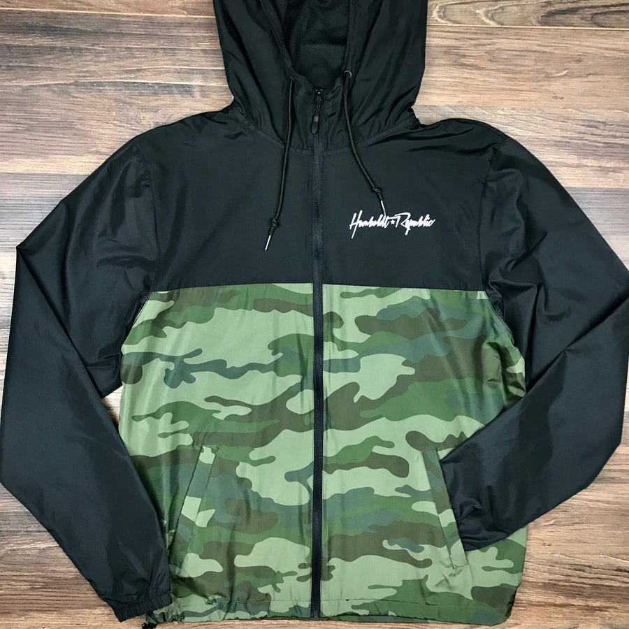 "Image of ""Maverick"" Men's Camouflage Windbreaker Jacket"