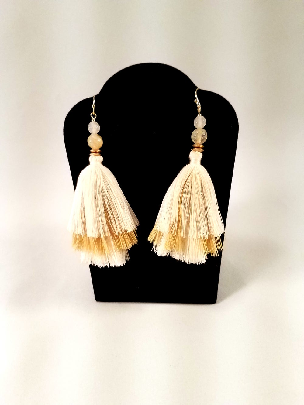 Image of Tiered Tassel Earrings