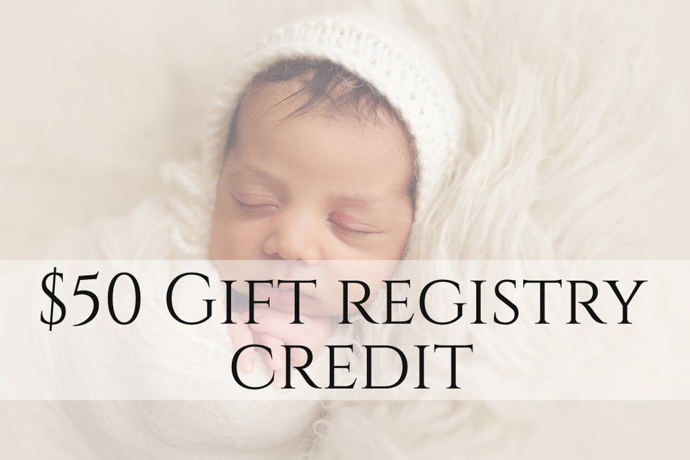 Image of $50 gift registry credit