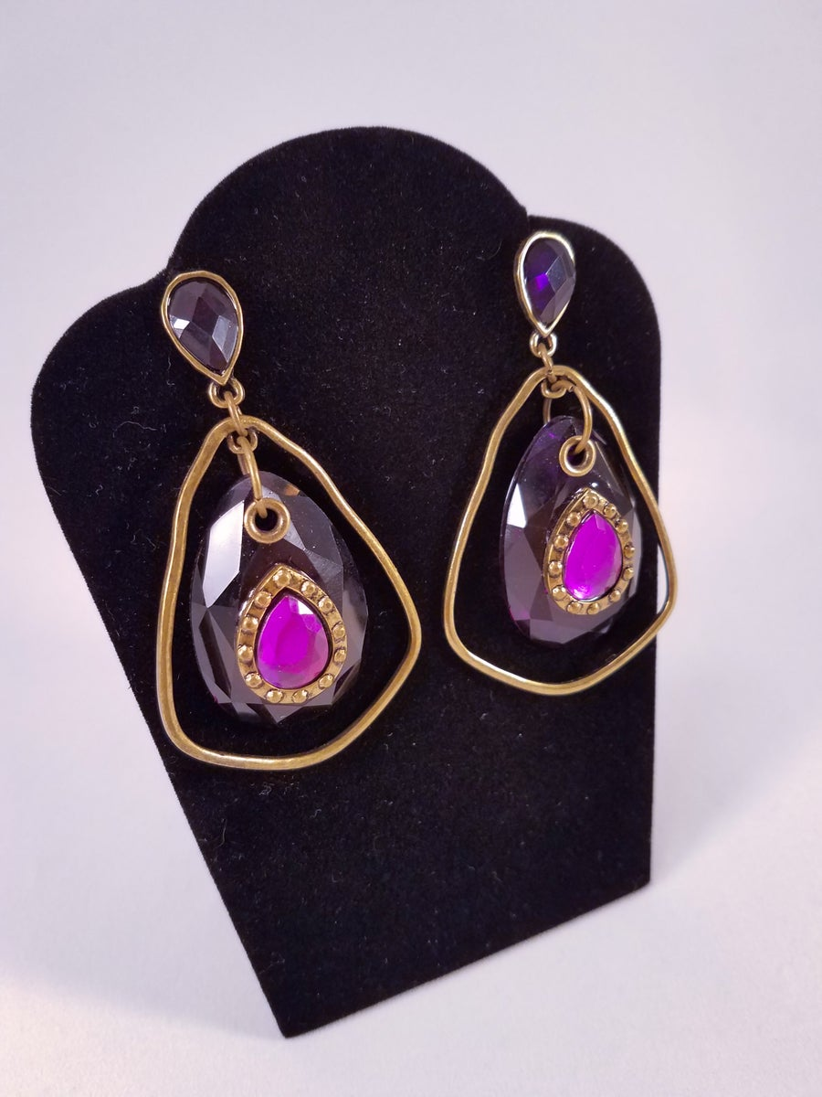 Image of Purple Genie Earrings