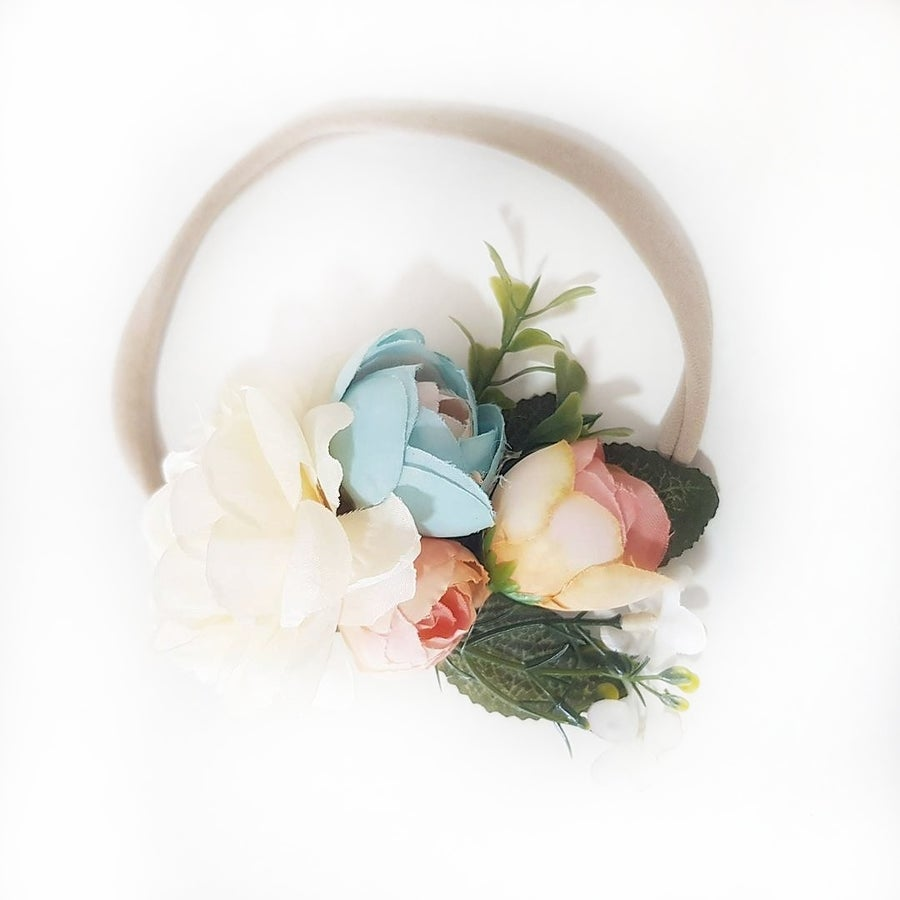 Mickey and grace flower crowns image of isla floral headband peachy blue izmirmasajfo
