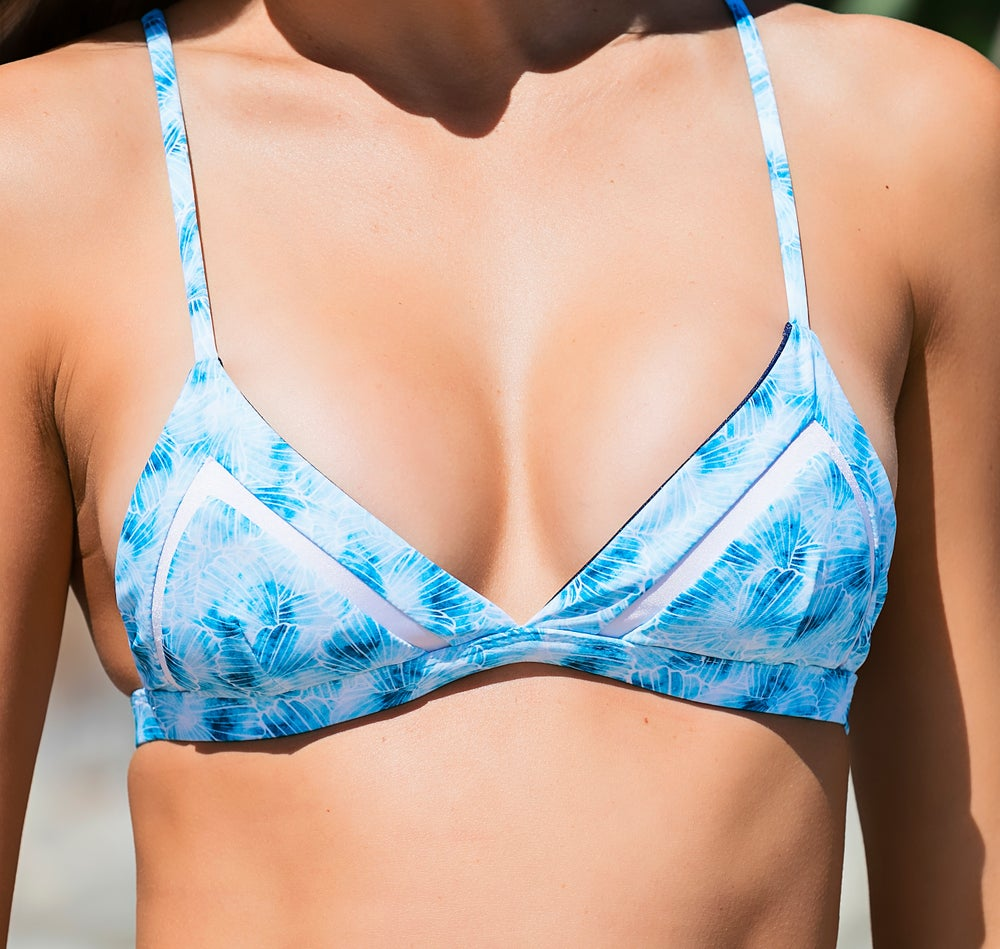 Image of CRYSTAL BAY TOP // SEASHELLS & OCEAN BLUE