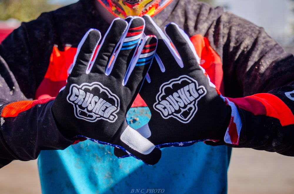 Image of USA Crushed MX Motocross Gloves