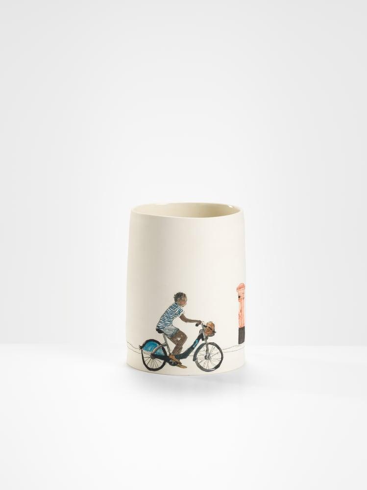Image of Boy on a boris bike