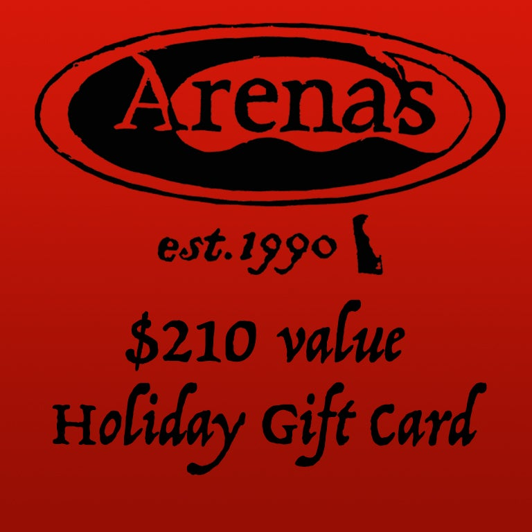 Image of $210 value Arena's Holiday Gift Card.
