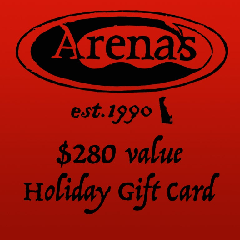 Image of $280 value Arena's Holiday Gift Card.