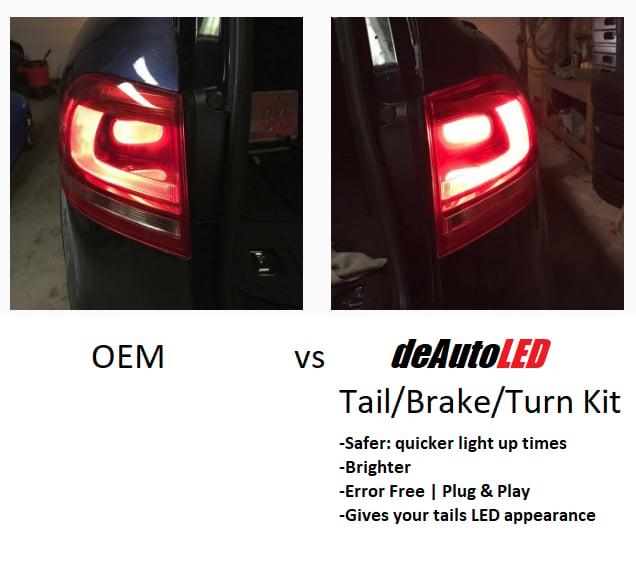 Image of Complete Brake / Tail LED Kit - Bright - Error Free - Fits: Volkswagen Touareg Tails
