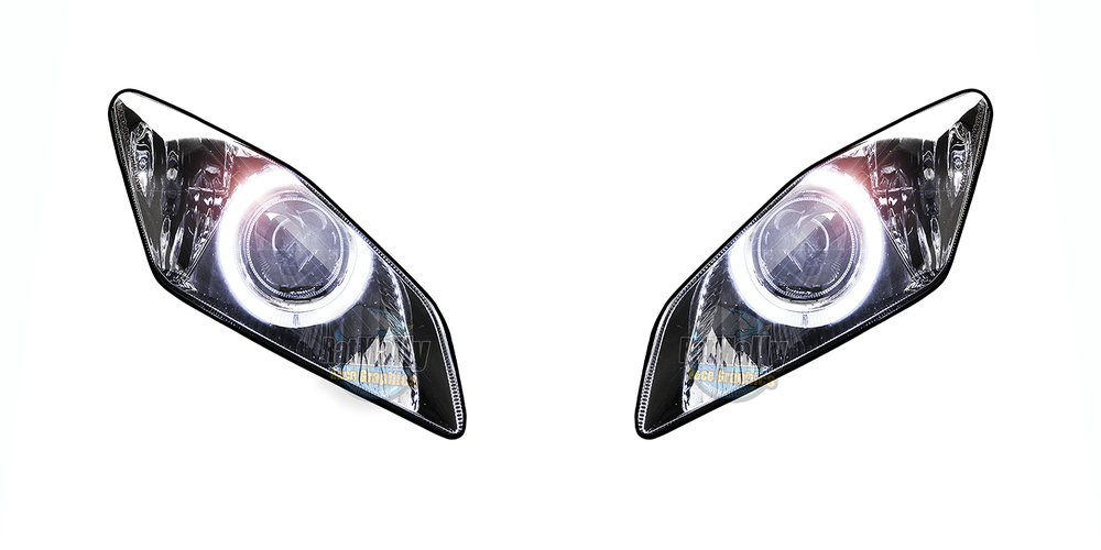 Image of Headlight Stickers to fit - Yamaha YZF R6 (Projector): 2006>