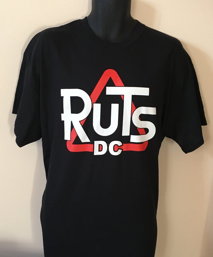 Image of RUTS DC 'Classic DC Triangle' T-Shirt in Black or White