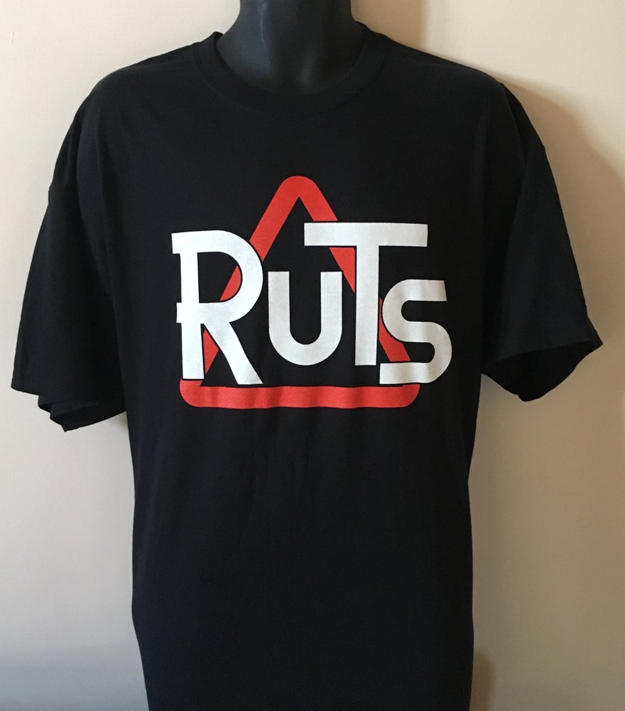 Image of RUTS 'Classic Triangle' T-Shirt in Black