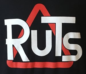 Image of RUTS 'Classic Triangle' T-Shirt in Black or White