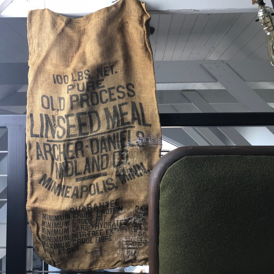 Image of Linseed Meal burlap sack