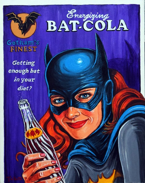 "Image of ""Energizing Bat-Cola"" signed canvas print"