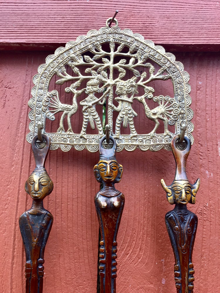 Image of Bastar Tribal 3 set of Spoons with Brass hook