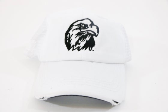 Image of White Chuck Jones Eagle Velcro Dad SnapBack. Adjustable.