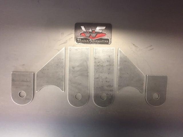Image of 4 Link Tabs - 45 degree - Frame Mounts