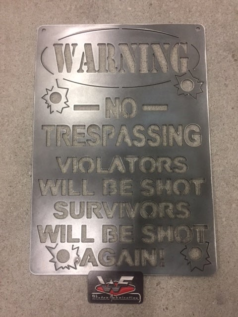 Image of NO TRESPASSING  Sign