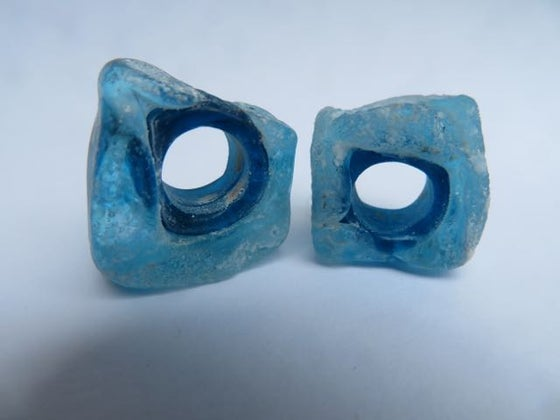 Image of wild beads in blues
