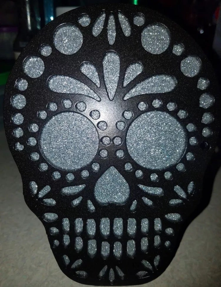 Image of Sugar Skull Hitch Cover - Two Layer