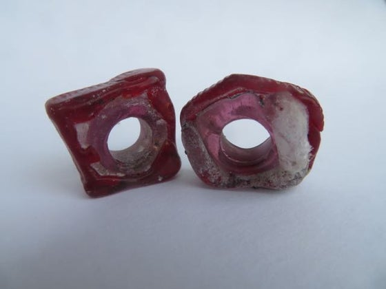 Image of wild beads in red