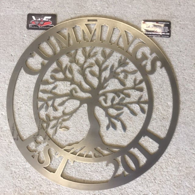 Personalized Tree Of Life With Last Name And Established Year
