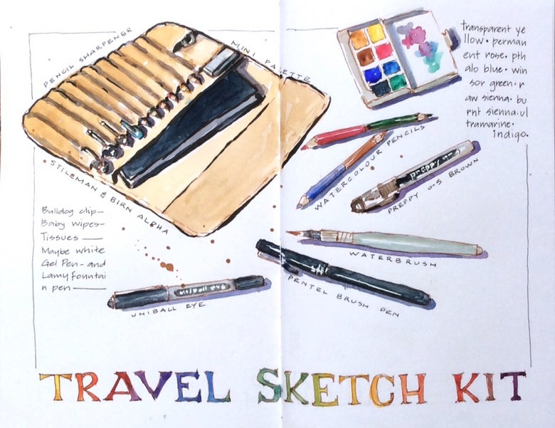 Image of Travel Sketching 101 for Teens 13 - 18years