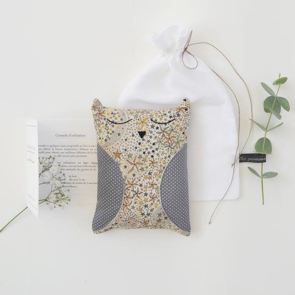 Image of Bouillotte chouette étoiles