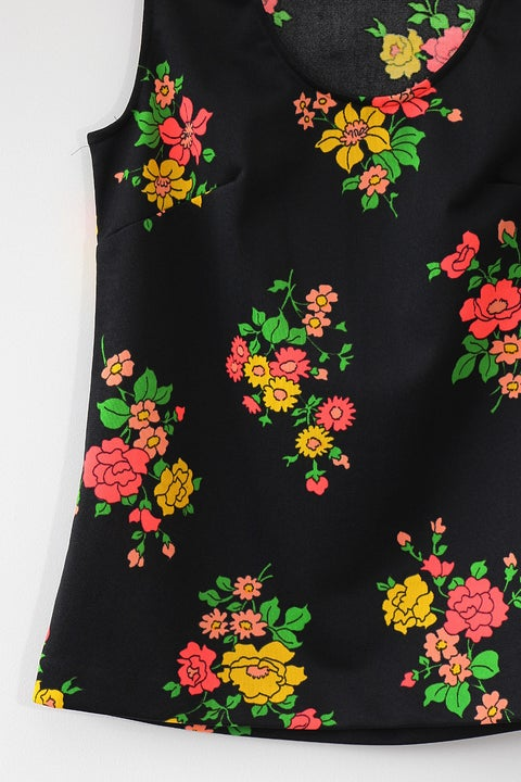 Image of Neon Flower Bouquets Blouse