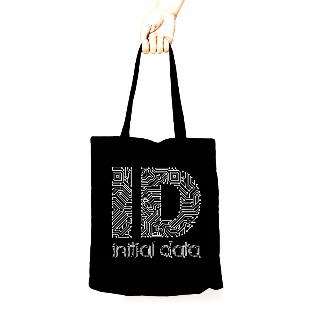 Image of Data Tote Bag Black