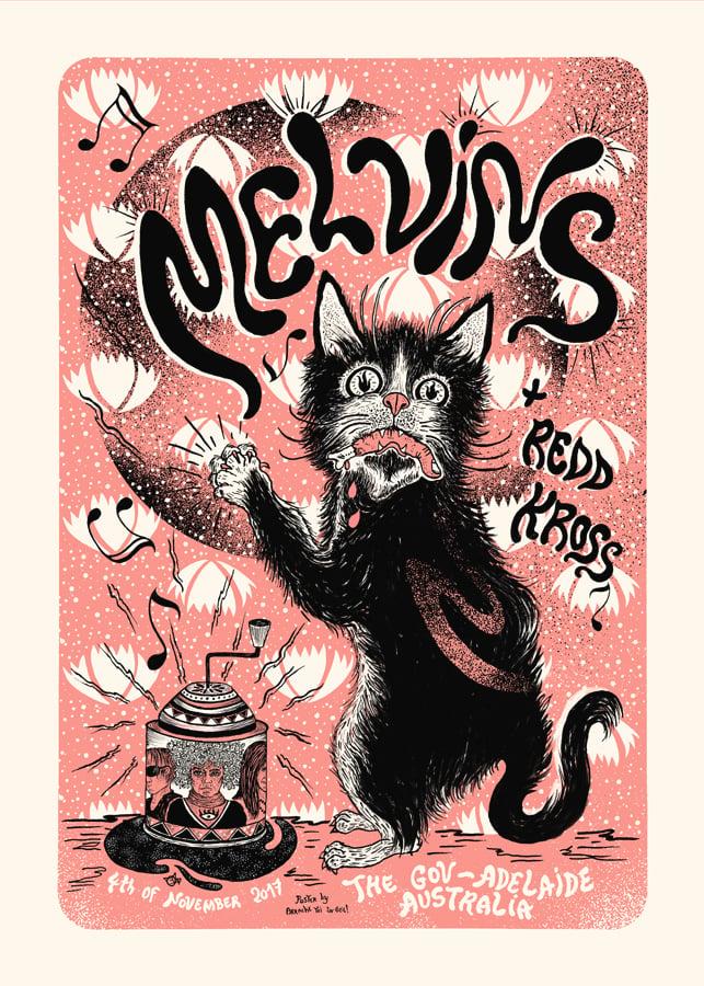 Image of MELVINS (Australia 2017) screenprinted poster