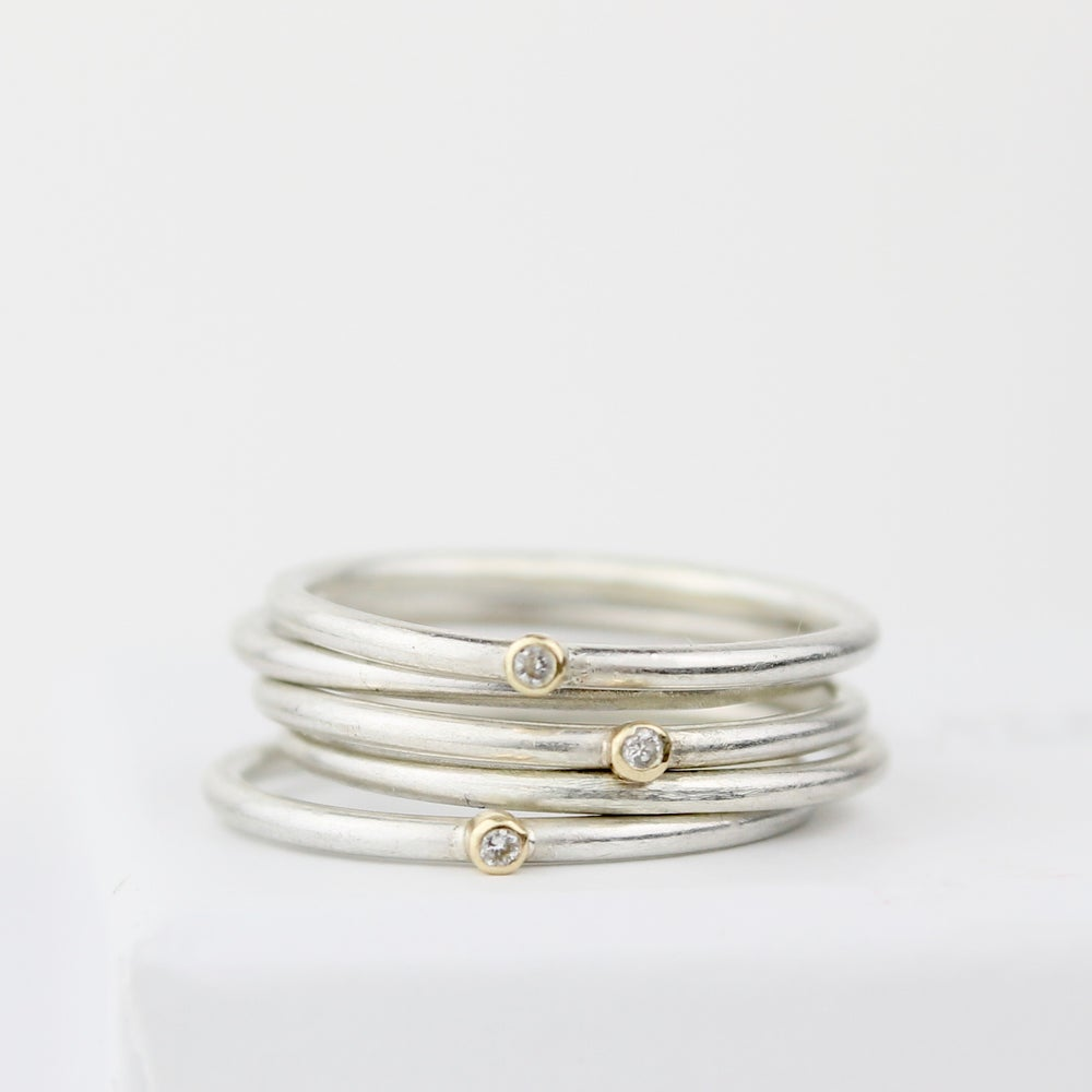 Image of Handmade teeny diamond stacking set