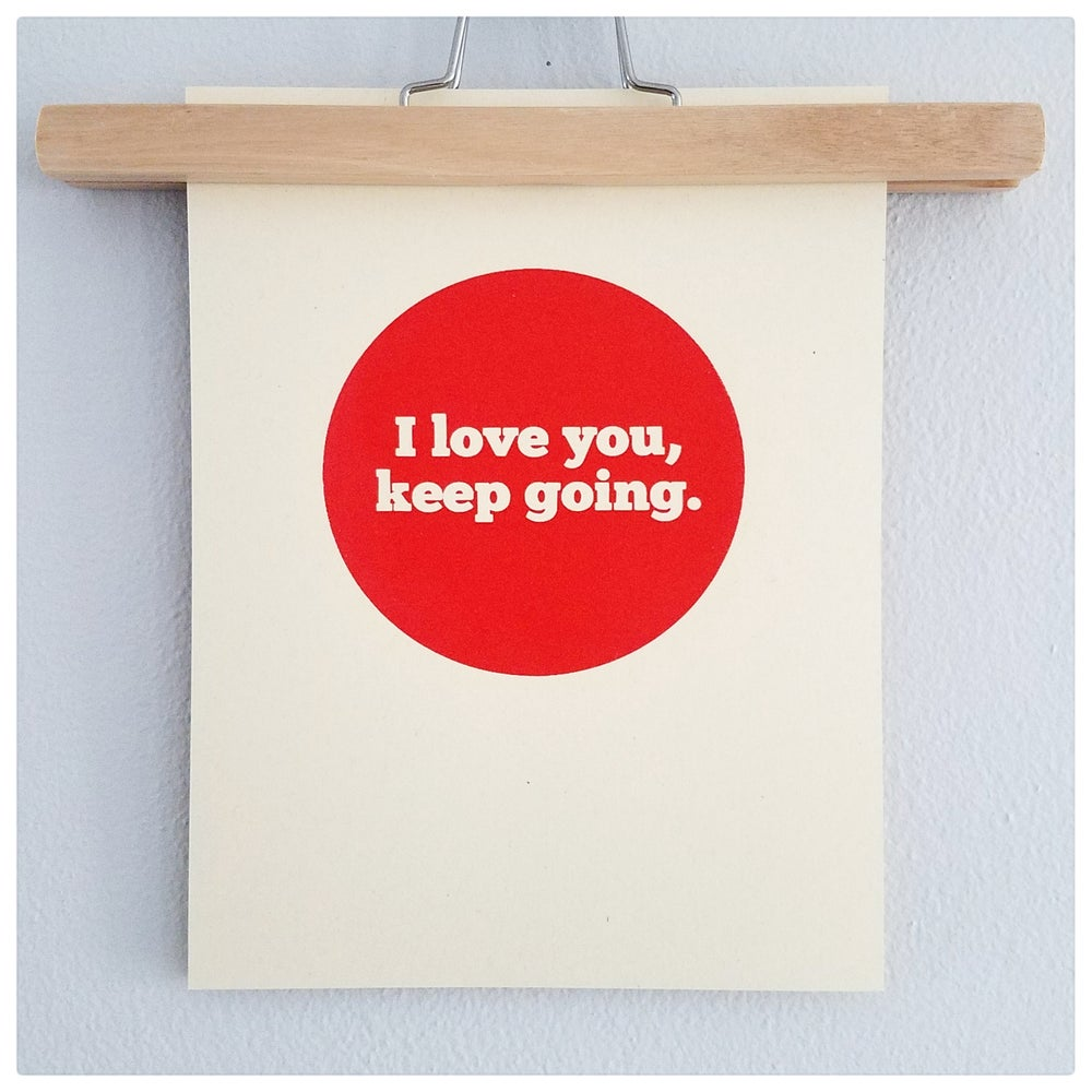 Image of I Love You Print, Large