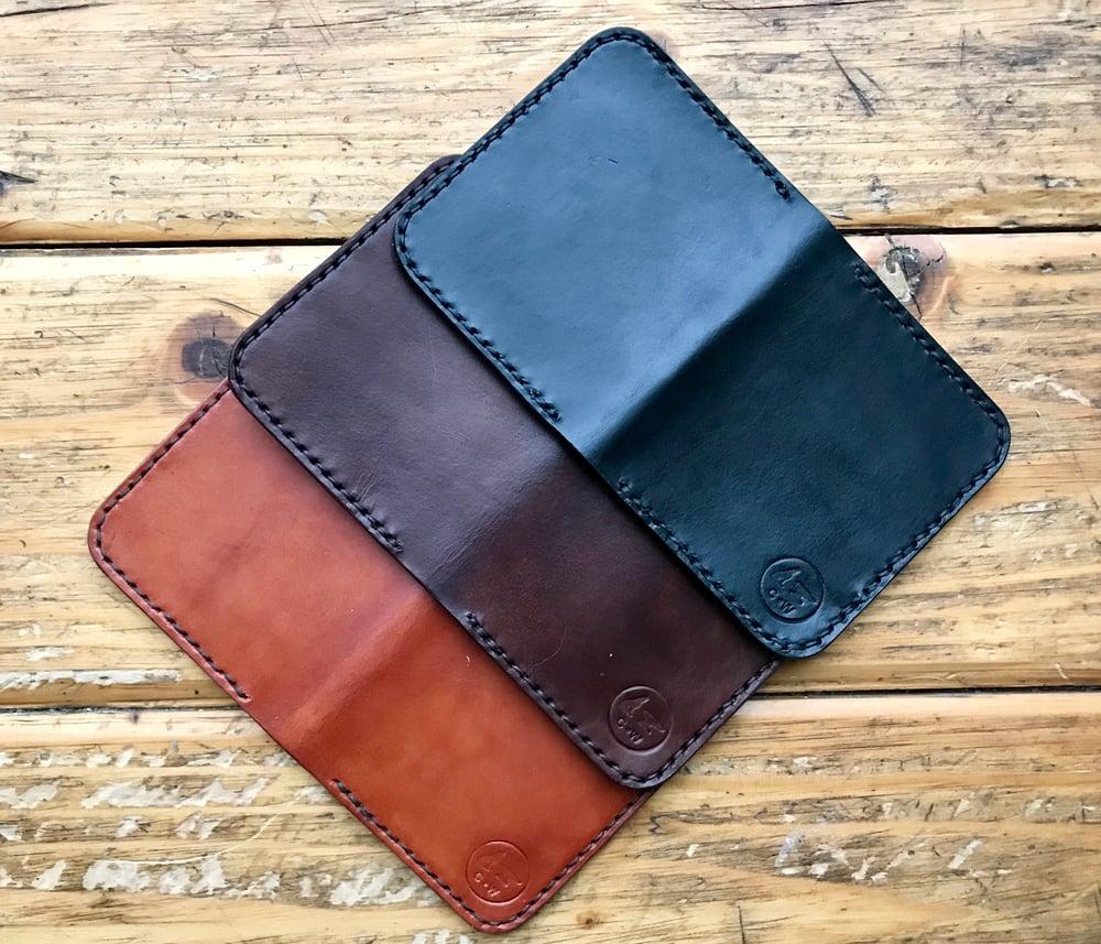 Image of Four Card Slot Bi-Fold Leather Wallet