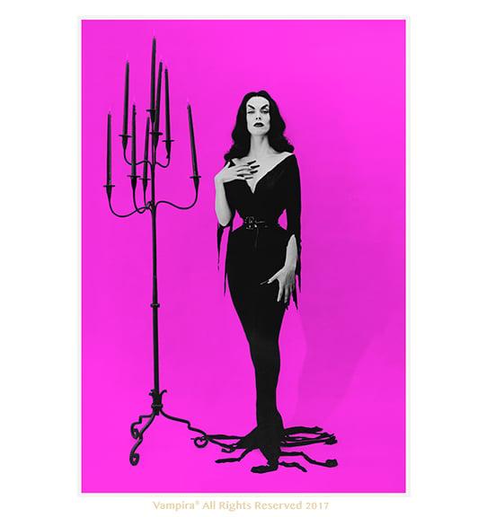 Image of Vampira Pink 13x19 print