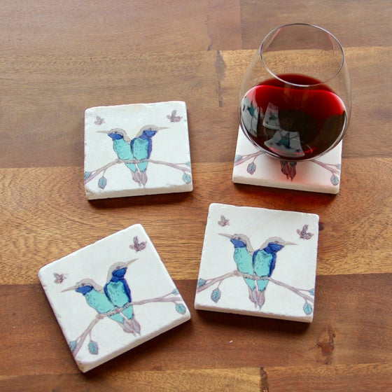 Image of Distracted Couple Coasters (set of 4)