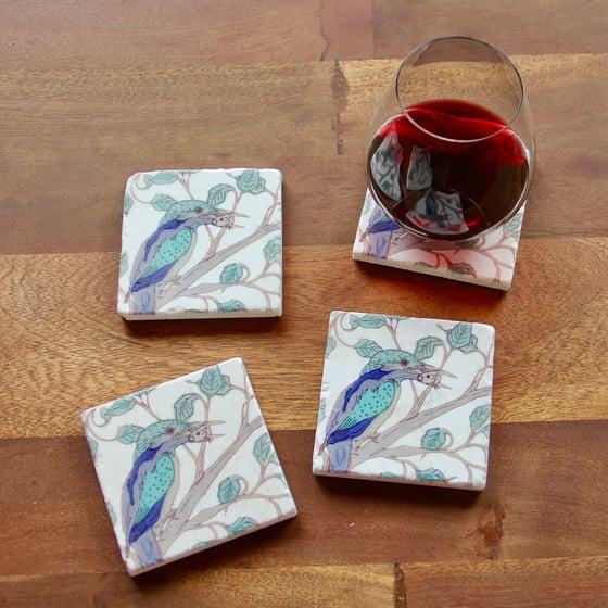 Image of Kingfisher Coasters (set of 4)