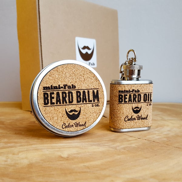 Image of Beard Oil & Balm Set - Men's Grooming All-Natural Oil - Beard Balm - Handmade in Small Batches